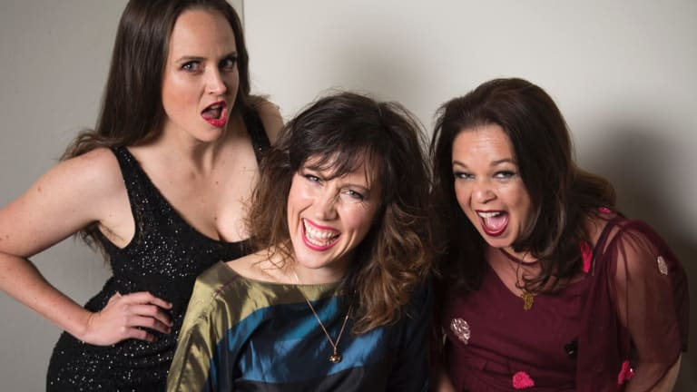 """""""It was funny back then and it's funny now."""" From left, Post's Zoe Coombs Marr, Mish Grigor and Natalie Rose."""