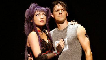 Erin Clare and Gareth Keegan in <i>We Will Rock You</i>.