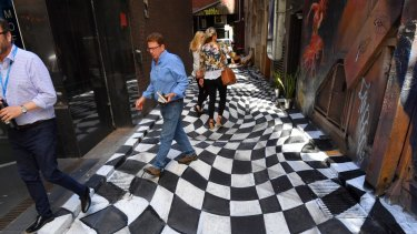 Strachan Lane, Melbourne City Council is considering issuing an enforcement order to get it removed for safety reasons.
