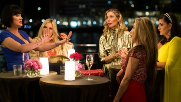 The <i>Real Housewives of Sydney</i> cast, with Nicole O'Neil at far right.