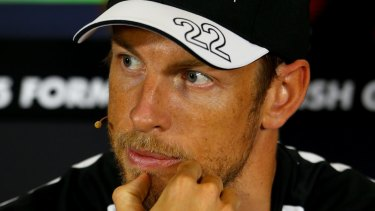 """""""Positive influence"""": Jenson Button and Playboy model Brittny Ward went public with their relationship last week."""