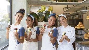 Gloria Palladin, Maria Stella Orlando, Gaia Pichetti and owner Lisa Valmorbida at Pidapipo Windsor.