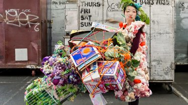 Hiromi Tango is one of eight artists participating in Melbourne's first Public Art Melbourne Biennial Lab, at Queen Victoria Market.
