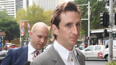 Kirin J Callinan arrives at Downing Centre Court in Sydney Wednesday, February 21, 2018.