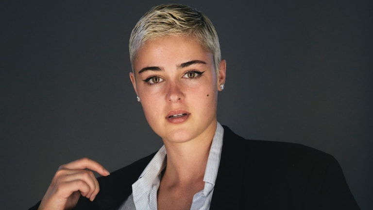 "Stefania Ferrario doesn't have a favourite brand: ""I'm an op-shopper,"" she said."