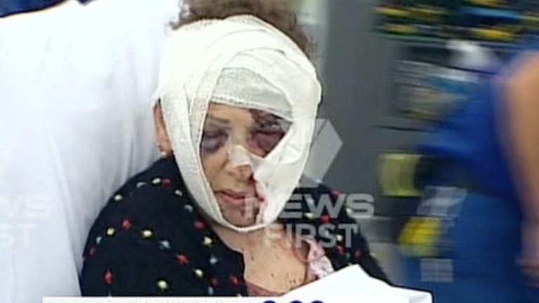 The 78-year-old woman was taken to Westmead Hospital after bank employees notified authorities.