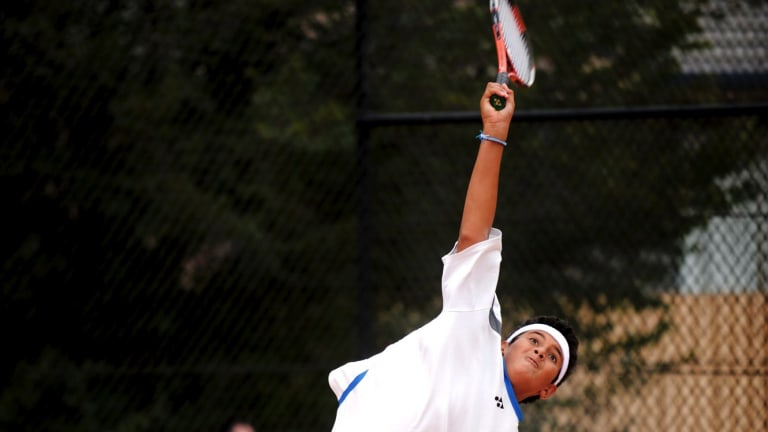 A young Nick Kyrgios at Lyneham