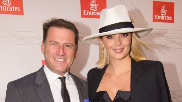 0e55920162d Karl Stefanovic and Jasmine Yarbrough at Emirates Marquee