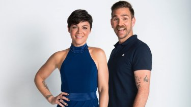 Rusciano with co-host Harley Breen.