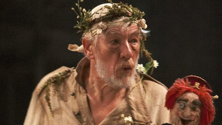 Ian McKellen as King Lear.
