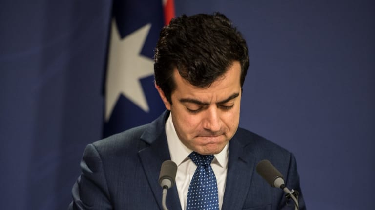 Senator Sam Dastyari announces he will stand aside from the Labor frontbench.