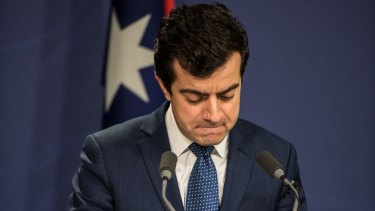 Senator Sam Dastyari announces his resignation from the opposition frontbench.