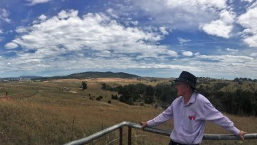 Larry O'Loughlin from Conversation Council ACT overlooking North Coombs.
