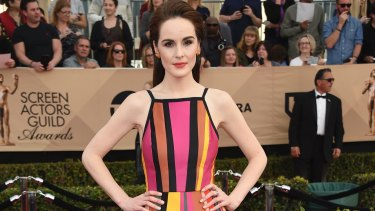 Michelle Dockery at the Screen Actors Guild Awards awards in Los Angeles in January this year.