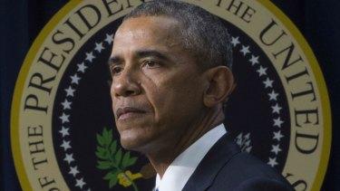US President Barack Obama speaking on extremism.