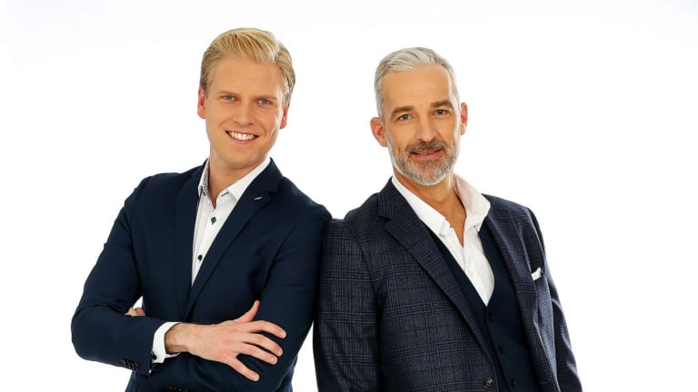 Pointless hosts Mark Humphries and Andrew Rochford.