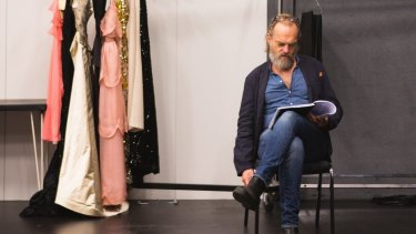 Hugo Weaving (as Big Daddy) in rehearsal for Cat on a Hot Tin Roof.
