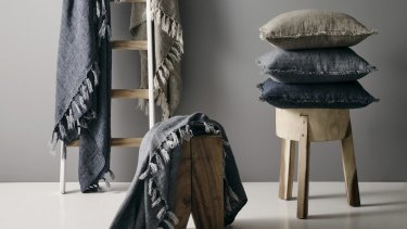 Linen & Moore Winter Throws and cushions.