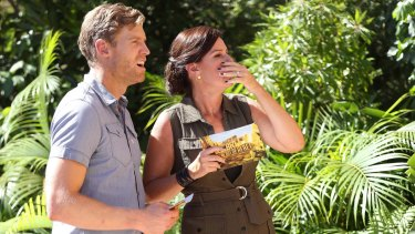 Chris Brown and Julia Morris return as hosts of I'm a Celebrity Get Me Out of Here.