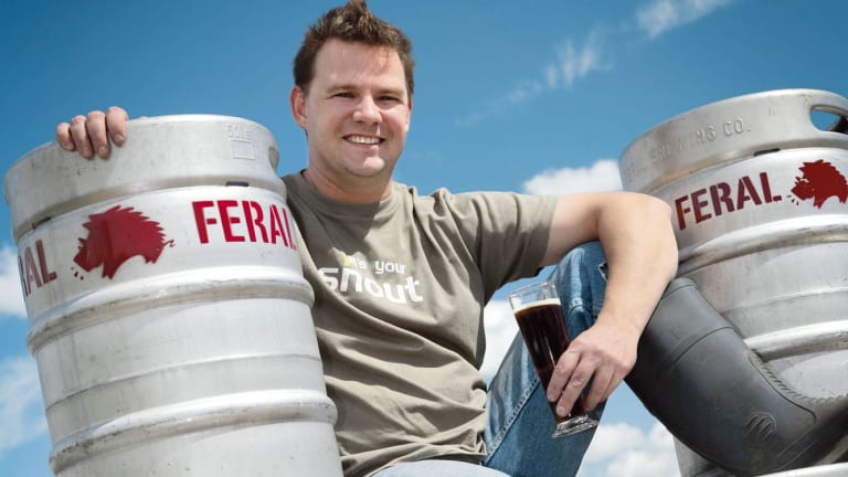 Brendan Varis of the Feral Brewing Company in Western Australia.