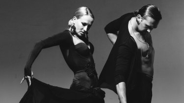 German dancers Pavel Zvychaynyy and Oxana Lebedew perform at theAustralian DanceSport Championship.