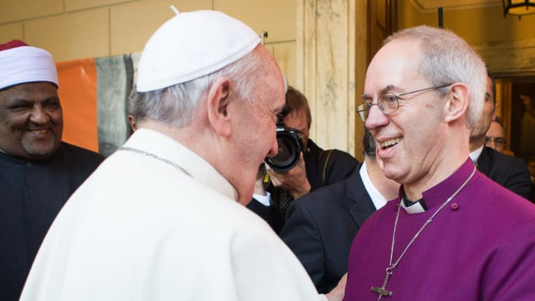 Pope Francis, and Justin Welby, Archbishop of Canterbury, have  both called for action on climate change.