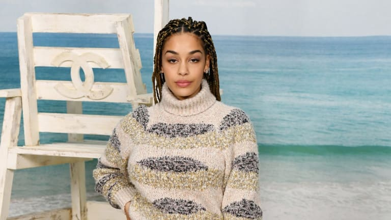 Jorja Smith attends the Chanel show at Paris Fashion Week in October.