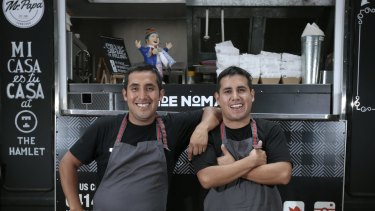 Peruvian street food: Brothers Carlos Ramirez and Moncho Ramirez with their van Mr Papa.