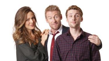 Happy family Greene: Caroline Brazier as Wendy, Richard Roxburgh as Cleaver and Keegan Joyce as Fuzz.