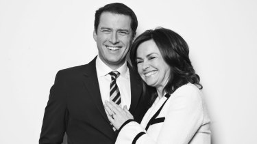 Karl Stefanovic and co-host Wilkinson in 2011.