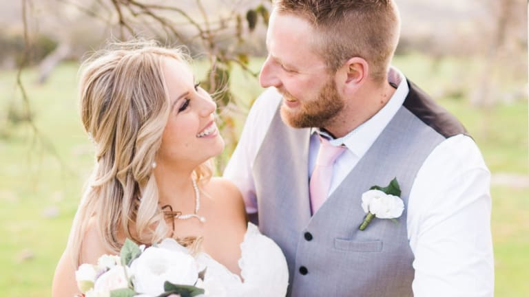 Renee and Evan Willock at their wedding in September at Gold Creek Station.