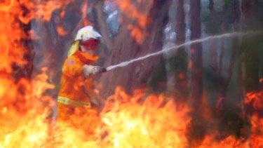 A prescribed burn operation in Wedderburn in Sydney's south-western suburbs on Saturday ahead of a predicted extreme fire season.