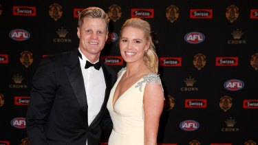 Nick Riewoldt and wife Catherine.