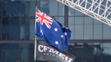 Unionists have been campaigning against Melbourne builder VCON/Element Five.