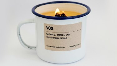 VOS enamel soy candle, $44.