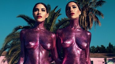 The Veronicas pose  for their new single <i>In My Blood</i>.