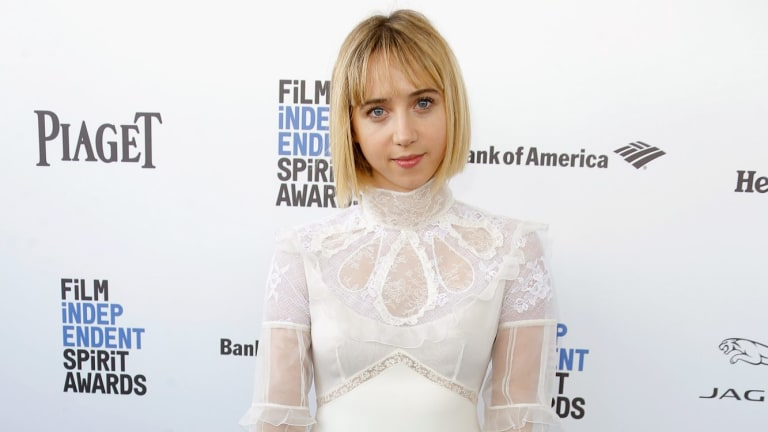 Actress Zoe Kazan says sexual harassment is rampant on Hollywood film sets.