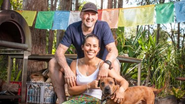 """""""I thought it would be ungrateful not to get better,"""" says Golinski with partner Erin Yarwood at their Sunshine Coast home."""