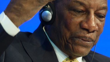 President of Guinea, Alpa Conde.
