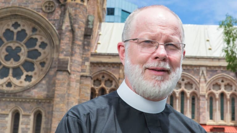St John's Anglican Cathedral dean Dr Peter Catt will address a rally on Saturday.