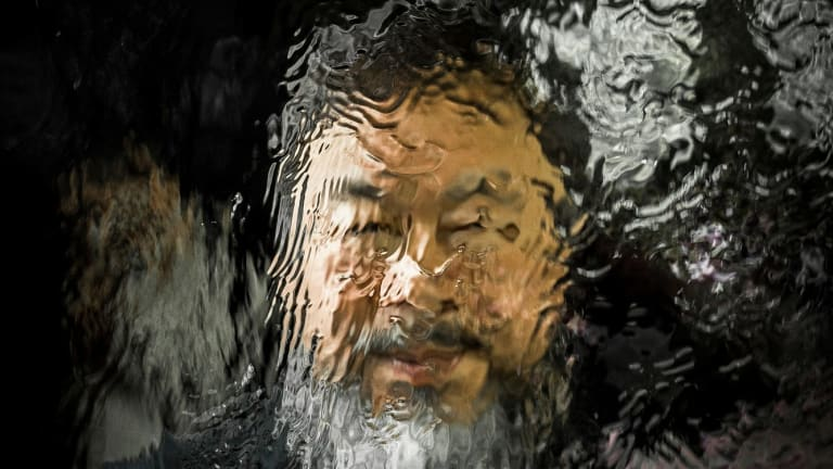 Chinese artist Ai Weiwei pictured at the National Gallery of Victoria in 2015.