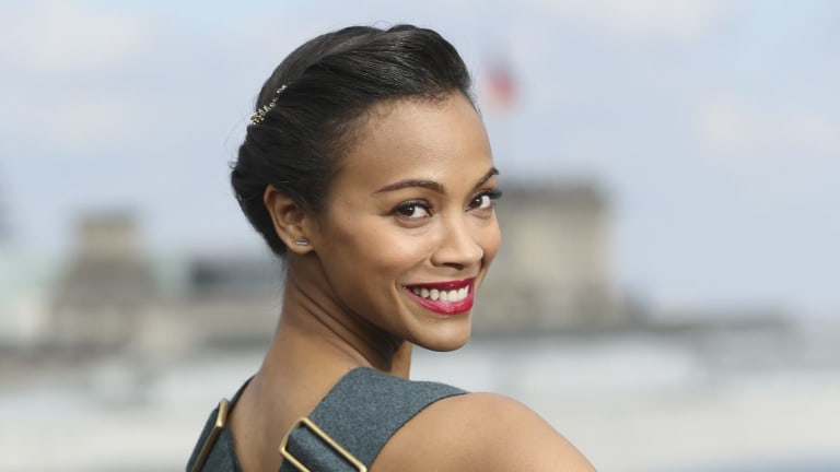 Zoe Saldana is shooting for the stars both on screen and off it.