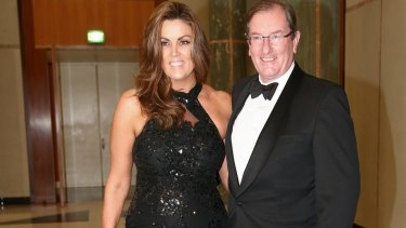 Loughnane and his wife Credlin at one of their last public outings - Canberra's Midwinter Ball in June.