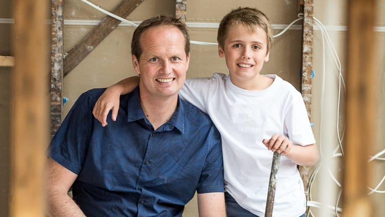 Scott Moffat, pictured with his son, was left with no home phone or broadband connection for four months.