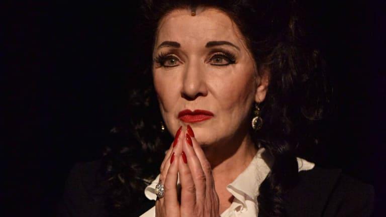 Muggleton as Maria Callas in <i>Master Class</i>.