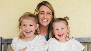 Heather Garriock at home with her daughters, Noa, 3, and Kaizen, 5.