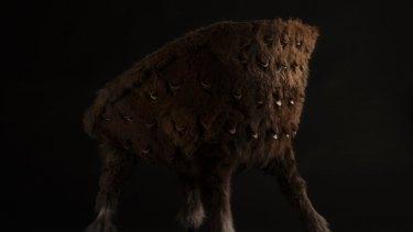 Wallaby pelts cover Trent Jansen's Pankalangu armchair.