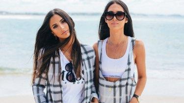Thessy Kouzoukas (L) and Yiota Kouzoukas from Instagram sensations Sabo Skirt.