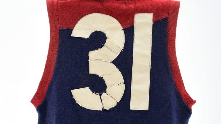 Legend: Ron Barassi's Melbourne jumper.
