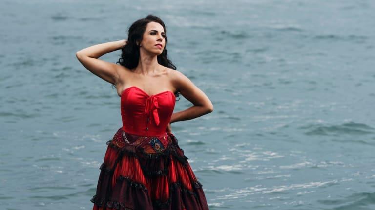 Italian mezzo soprano Jose Maria Lo Monaco starred in Opera Australia's most recent production of Carmen, on Sydney Harbour.